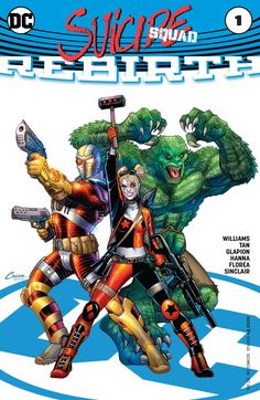 Suicide Squad Rebirth Killer Croc, Deadshot, and Harley Quinn