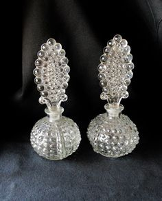 Vintage Perfume Bottle Set Of Two Hobnail by SunburyVintageStore