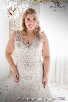 f0e59ff6d3 Abiti da sposa plus size di Roz la Kelin 2018 collezione Glamour Plus