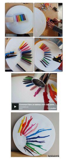 melting crayon art !  http://www.stephaniebricole.com/archives/2012/02/15/23523543.html