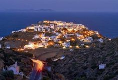 The magical village of Kastro by night at Sifnos island (Σίφνος)❤