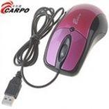 MOUSE CARPO USB ROXO