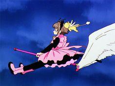 Cardcaptor Sakura Episode 08 | CLAMP | Madhouse / Kinomoto Sakura and Keroberos (Kero-chan)