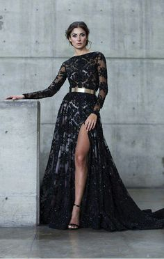 Gowns with sleeves. Gala Dresses, Event Dresses, Formal Dresses, Mom Dress, Gowns With Sleeves, Applique Dress, Luxury Dress, Evening Gowns, Beautiful Dresses