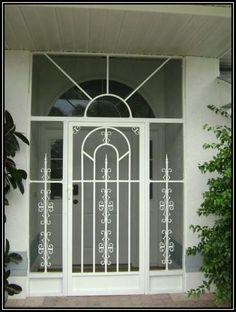 Sketch Of Unique Home Designs Screen Door