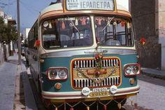 Old bus Ierapetra Crete Athens Greece, Crete Greece, Tramway, World Pictures, Busses, A Decade, Public Transport, Historical Photos, Vintage Postcards