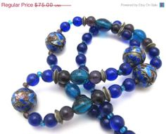 #Chinese #Bead #Necklace - #Enamel and Glass Beads
