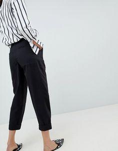 ASOS   ASOS DESIGN bree combat pants in washed black