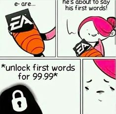 Lmao what are it's first words Video Games Consoles Console Mario Zelda Nintendo Switch Playstation Xbox One Retro Nostalgia Xbox Atari NES SNES Sega Genesis Master System Game Gear Gameboy GameCube Wii Wii U Funny Gaming Memes, Funny Games, Hilarious Memes, New Memes, Memes Humor, Funny Humor, Best Funny Photos, Funny Pictures, Gaming Girl