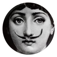 "Plate 21 from Piero Fornasetti's ""Theme and Variations"" series"