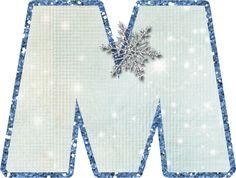 Alfabeto.snow flake...M