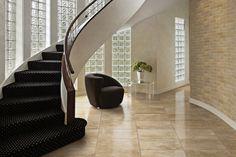 Design Your Home With FloridaTile Travertine Polished Natural Stone Tile. #Tile #HomeDecor #Ideas #InteriorDesign www.arcstoneandtile.com