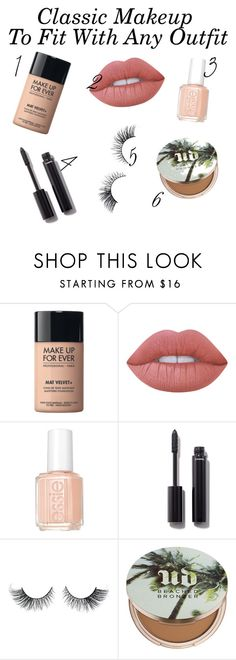 """Classic Makeup"" by coral45 on Polyvore featuring beauty, MAKE UP FOR EVER, Lime Crime, Essie, Chanel and Urban Decay"