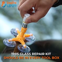 This Cracked Glass Repair Kit allows anyone to repair glass damages including bulls-eye, cracks, spider web, star damages safely, easily and i… Simple Life Hacks, Useful Life Hacks, Car Hacks, Home Hacks, Car Cleaning, Cleaning Hacks, Glass Repair, Tips & Tricks, Cool Inventions