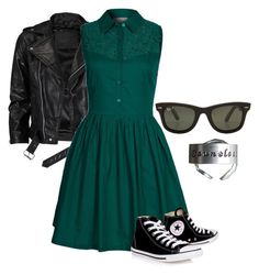 """""""8th grade graduation"""" by kat4466 ❤ liked on Polyvore featuring VIPARO, PYRUS, Converse and Rayban"""