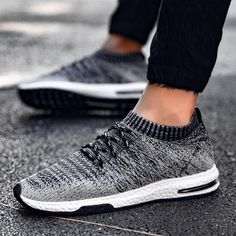 1c78f804be368  16.58 Discounted Men s Flyknit Air Sneakers Fitness Mesh Lightweight  Sports Running Gym Walking Trainers Shoes Running
