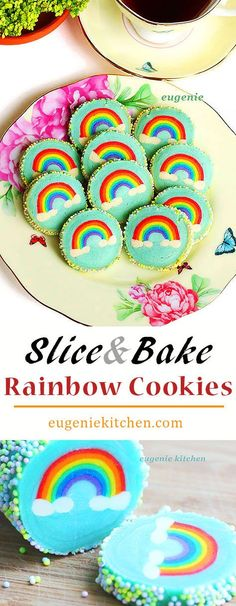 rainbow sugar cookies adorable slice and bake rainbow sugar cookies ...