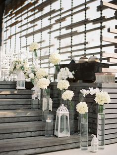 Wedding Aisle Inspiration-candles and flowers| View the full gallery here:http://tietheknotsantorini.com/santorini-wedding-aisle-inspiration