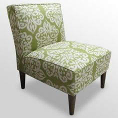 Looking for accent chairs to go with our brown couch in the new house. Love the print...and love the green.