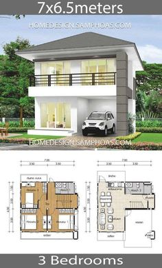 3 Bedroom House, Small House Plans, How To Plan, Home, Little House Plans, Tiny House Plans, Ad Home, Small House Layout, Homes