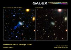 IC3418 is a dwarf galaxy located within the Virgo Supercluster and appears to be crossing from life to death. Scientists estimate that IC3418 essentially ran out of gas around 250-million years ago. - Credit: NASA/JPL, Caltech