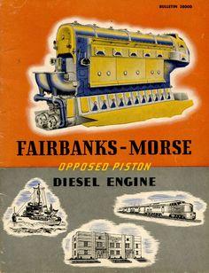 fairbanks morse diesel engines - Google Search Mechanical Force, Mechanical Engineering, Locomotive Engine, Diesel Locomotive, Small Diesel Generator, Marine Diesel Engine, Fairbanks Morse, Tools And Toys, Detroit Diesel