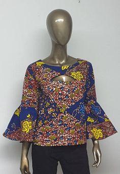 African Print Top. Ankara Top. Handmade Clothing. Bell