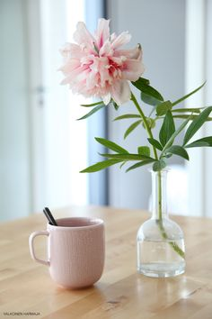 Iittala Sarjaton Letti mug in old rose. Via Valkoinen Harmaja. Pop up cafe Vases, Pop Up Cafe, Pots, Home Comforts, Bouquet, Table Arrangements, Table Flowers, Vintage Pottery, Country Decor