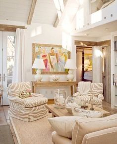 60 Eclectic Decor To Add To Your List - Interior Design Fans - 60 Eclectic Deco. Home Living Room, Living Room Designs, Living Room Decor, Living Spaces, Decor Room, Wall Decor, Coastal Living, Coastal Decor, Coastal Cottage