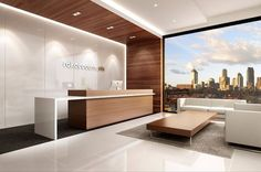Modern Office Reception Backdrop Design Luxury Living Office