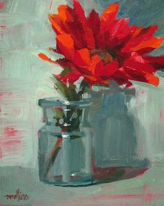 """Red Petals 8x10"""" Acrylic I've been practicing demo paintings for an upcoming video shoot... landscapes, tuscany scenes, still life, e..."""