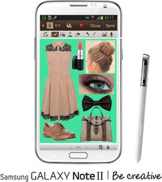 """""""Create a Downtown Muse look for a chance to win a Samsung GALAXY Note II!"""" by kimmy3999 ❤ liked on Polyvore"""