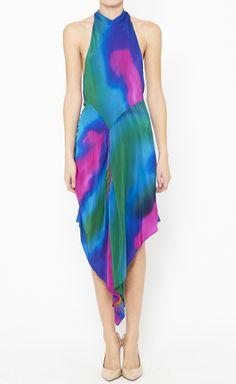 Matthew Williamson Green, Purple And Multicolor Dress | VAUNTE Uhm love it!