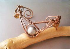 Bracelet Wire Wrapped Jewelry Handmade Bracelet by GearsFactory, €19.00