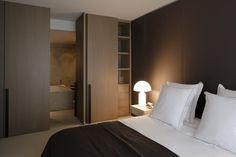 #dormitorio en tonalidad marrón #atollo
