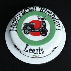 Vespa birthday cake.  www.facebook.com/TiersTiaras