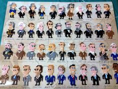 44 Presidents made from Perler Beads -- yes, yes, 44x yes!