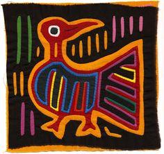 Very Vintage, 60's Bird Mola-Molita - Hand Sewn Kuna Indian Reverse Applique
