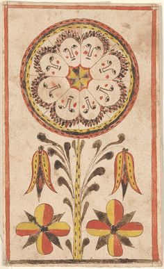 Reward of Merit (Belohnung) - Anonymous. Montgomery, PA. 1820. watercolor and ink on woven paper.