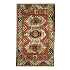 Herat Oriental Indo Hand-knotted Tribal Kazak Red/ Rug