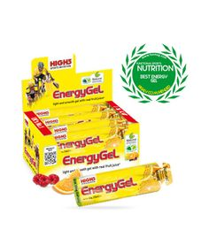 HIGH 5 ENERGY GEL PLUS (20 Gels) - Natural real juice EnergyGel that's not thick or sweet - Real juice flavours for a light refreshing taste - 23g of carbohydrate - Contains caffeine (30mg/sachet) - Race proven in the World's toughest competitions - Easy to carry and open.