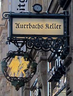 Auersbachs Keller sign Leipzig Germany