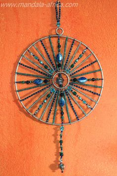 Sacred Dream Mandalas are created to be used as a Sun Light Catcher, as well as. a dream catcher, for contemplation and wholeness toward unity Dream Catcher Mandala, Dream Catcher Boho, Dream Catchers, Diy Light Fixtures, Shell Crafts, Wire Crafts, Sun Catcher, Wire Art, Beads And Wire