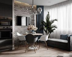 A imagem pode conter: mesa e área interna Apartment Interior, Interior Design, Small Apartment Interior, Home Room Design, Interior, Small Living Rooms, Apartment Design, Home Decor, Townhouse Interior