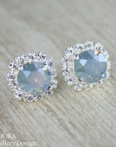 Bridal earrings jewelry Blue