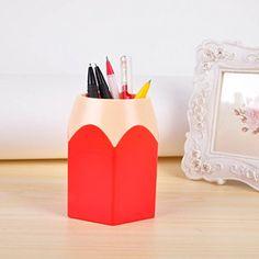 Creative Pen Vase Pencil Pot Makeup Brush Holder Statione…