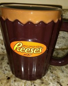 Reese's Peanut Butter Cup Coffee Mug Galerie Chocolate Candy Hershey Ceramic  #HersheyReesesCup