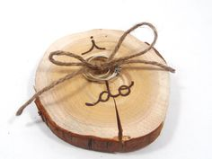 SMALLER sized RUSTIC ring bearer pillow. Rustic por KnottyNotions, $18.05