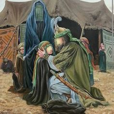 Hussein telling daughter goodbye.  Last time they saw each other. he left for Kerbala